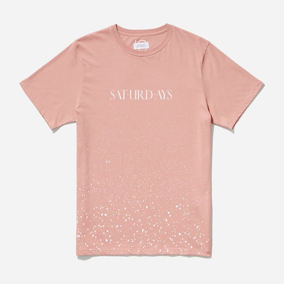 Saturdays Wash T‑Shirt in Salmon