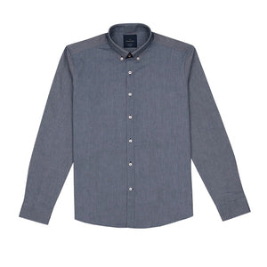 Koki Navy Oxford With Elbow Patch