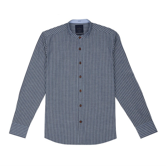 Hideki Washed Stripe with Patch Shirt