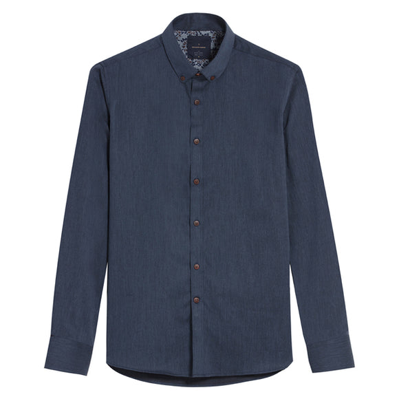 Tetsu Washed Indigo Chambray Shirt