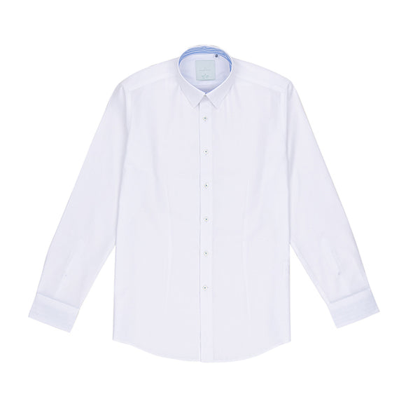 Clermont Easy Iron Textured White Shirt