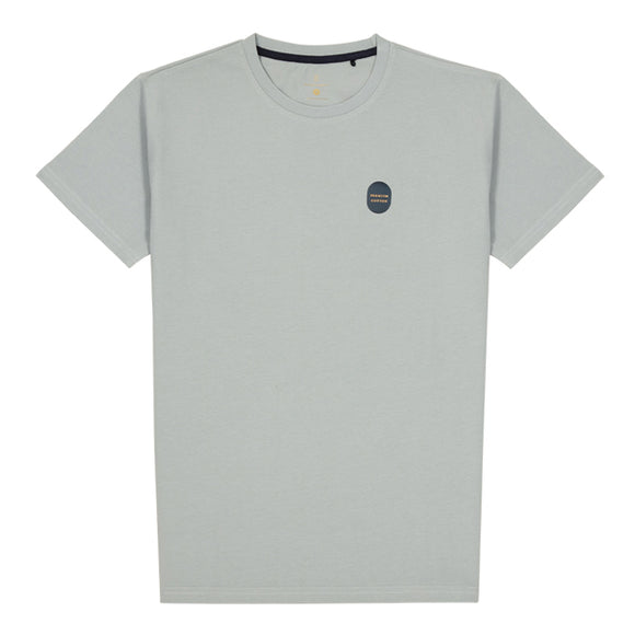 Pale Grey Washed Cotton Tee
