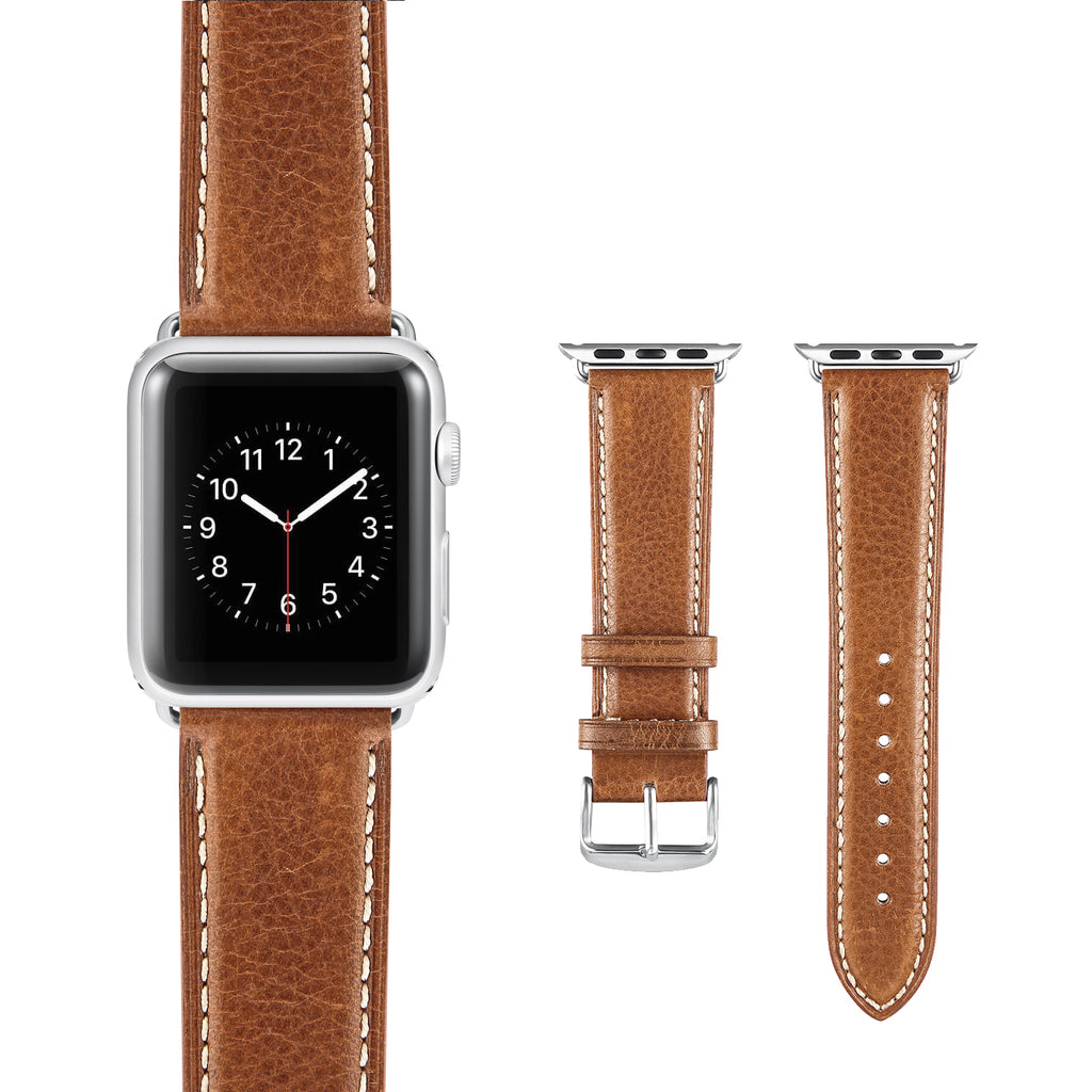 Vintage Dark Brown Leather Strap
