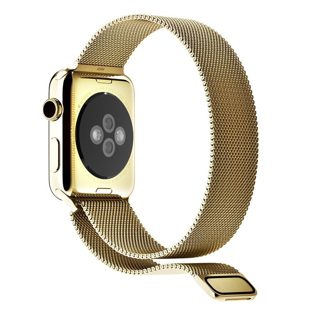 Gold Milanese Mesh Apple Watch