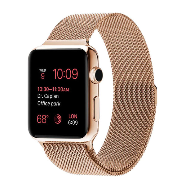 Pink Milanese Mesh Apple Watch