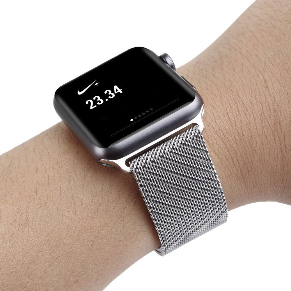 Silver Milanese Mesh Apple Watch