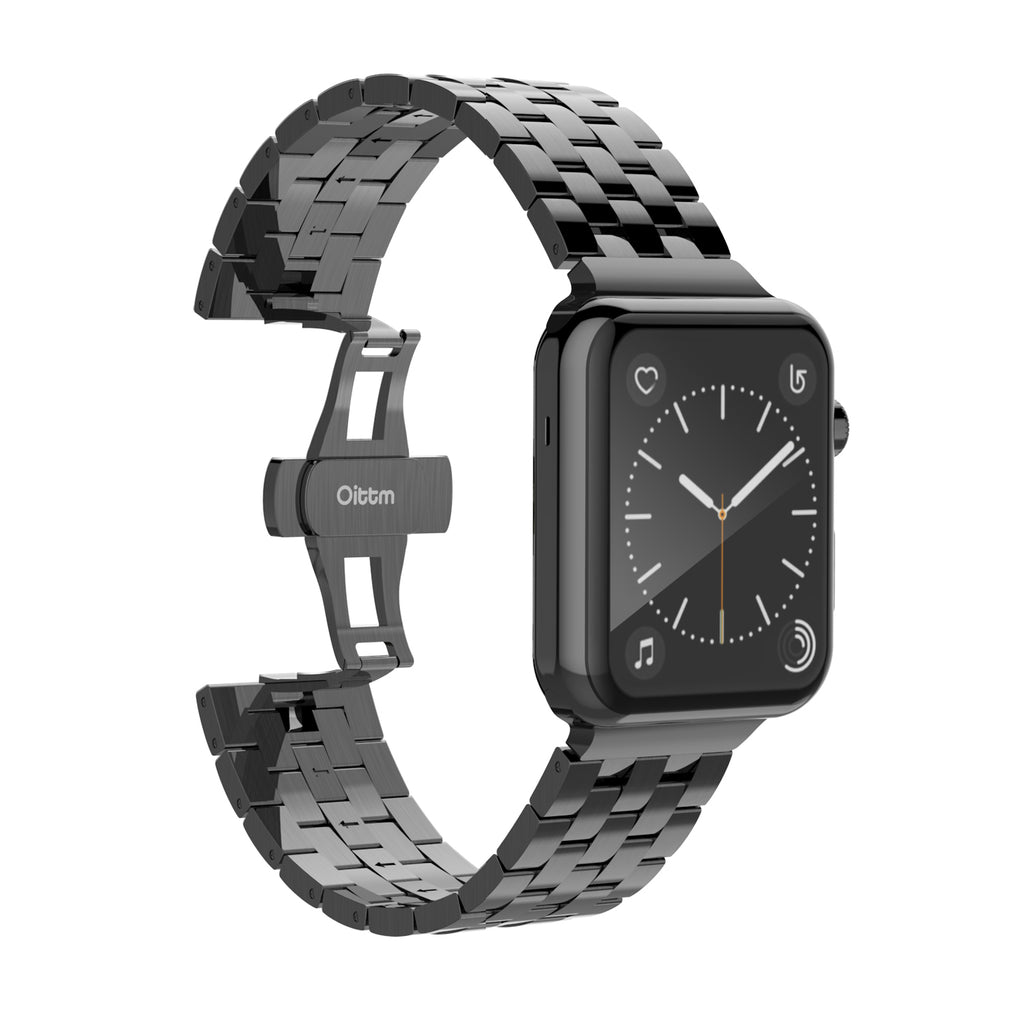 Engineer Bracelet Double Button Folding Clasp Apple Watch 38mm - Grey