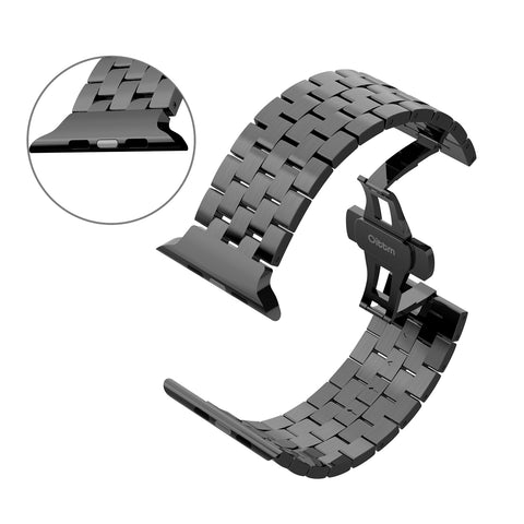 Engineer Bracelet Double Button Folding Clasp Apple Watch 42mm - Grey