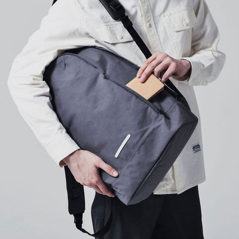 Rawrow R BAG 540 RAW WAXED 13 INCH CHARCOAL - Men's Online Shopping in Singapore | The Assembly Store - 5