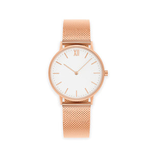 Signature 36 Rose Gold-Stainless Steel Mesh