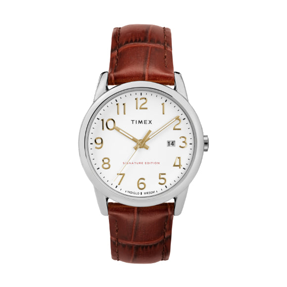 Easy Reader Signature 38mm Leather Strap Watch