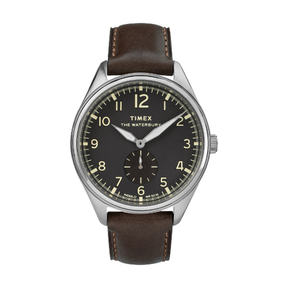 Waterbury Traditional Sub Second 42mm Leather Strap Watch