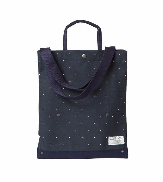 Brown Breath Deliver Bag Navy Dot - Men's Online Shopping in Singapore | The Assembly Store