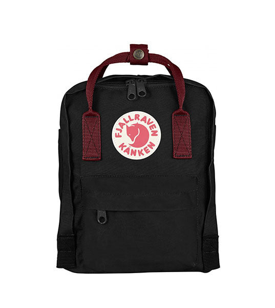 Fjallraven Kanken Mini Black and Ox Red - Men's Online Shopping in Singapore | The Assembly Store
