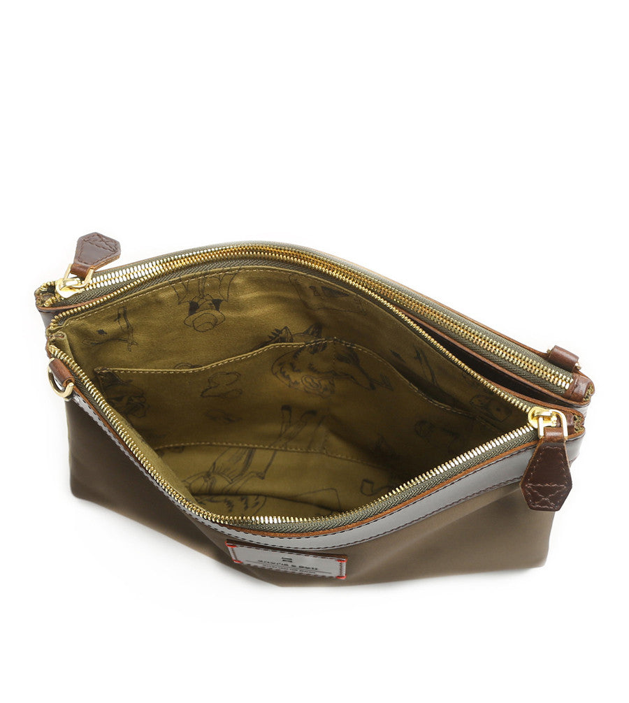 Milton Crossbody Clutch - Forest Green