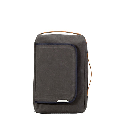 Rawrow R Bag 100 Wax Canvas Charcoal - Men's Online Shopping in Singapore | The Assembly Store - 1
