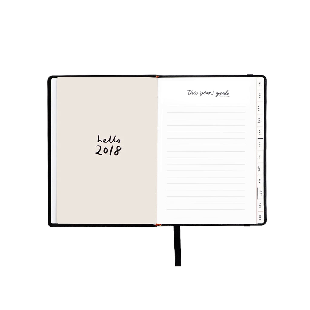 Compact Black 2018 Planner