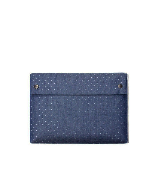 "Fabrix Folio Case 12"" Blue Dotted - Men's Online Shopping in Singapore 