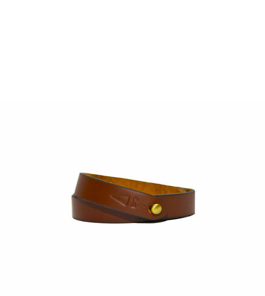Gnome & Bow Twine Leather Bracelet Chestnut - Men's Online Shopping in Singapore | The Assembly Store