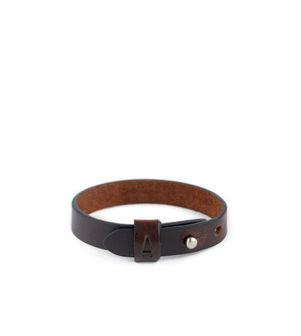 Gnome & Bow Twine Single Leather Bracelet - Mahogany - Men's Online Shopping in Singapore | The Assembly Store - 1