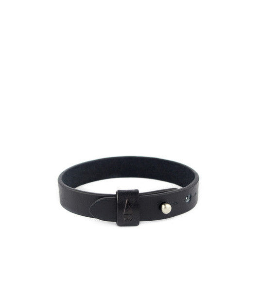 Gnome & Bow Twine Single Leather Bracelet - Onyx Black - Men's Online Shopping in Singapore | The Assembly Store - 1