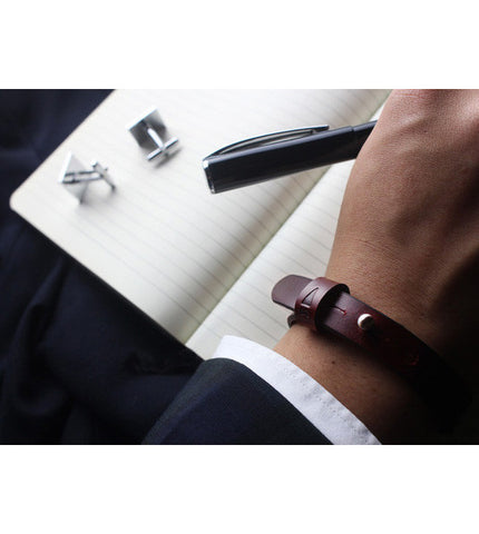 Gnome & Bow Twine Single Leather Bracelet - Oxblood - Men's Online Shopping in Singapore | The Assembly Store - 3