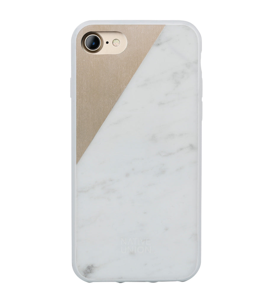 White Marble Clic Case - iPhone