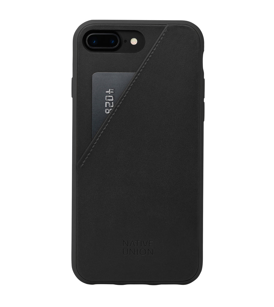Black Leather Clic Card - iPhone