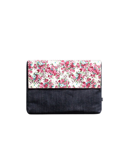 "Fabrix Deluxe Laptop Case 13"" Pink Floral - Men's Online Shopping in Singapore 