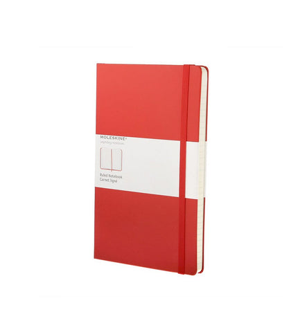 Moleskine Large Ruled Red Hard - Men's Online Shopping in Singapore | The Assembly Store - 1