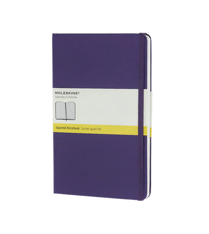 Moleskine Large Squared Brilliant Violet Hard - Men's Online Shopping in Singapore | The Assembly Store - 1