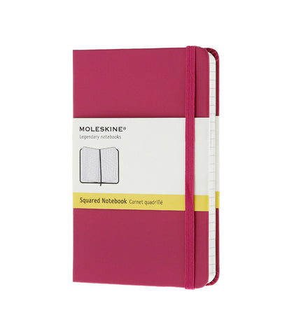 Moleskine Large Squared Magenta Hard - Men's Online Shopping in Singapore | The Assembly Store - 1