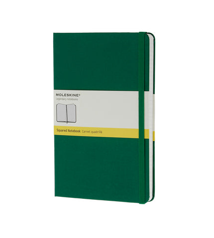Moleskine Large Squared Ox Green Hard - Men's Online Shopping in Singapore | The Assembly Store - 1