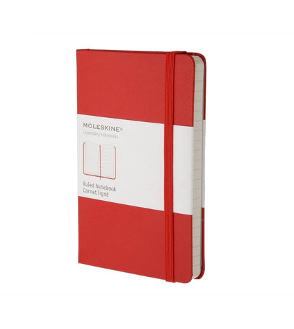 Moleskine Pocket Ruled Red Hard - Men's Online Shopping in Singapore | The Assembly Store - 1