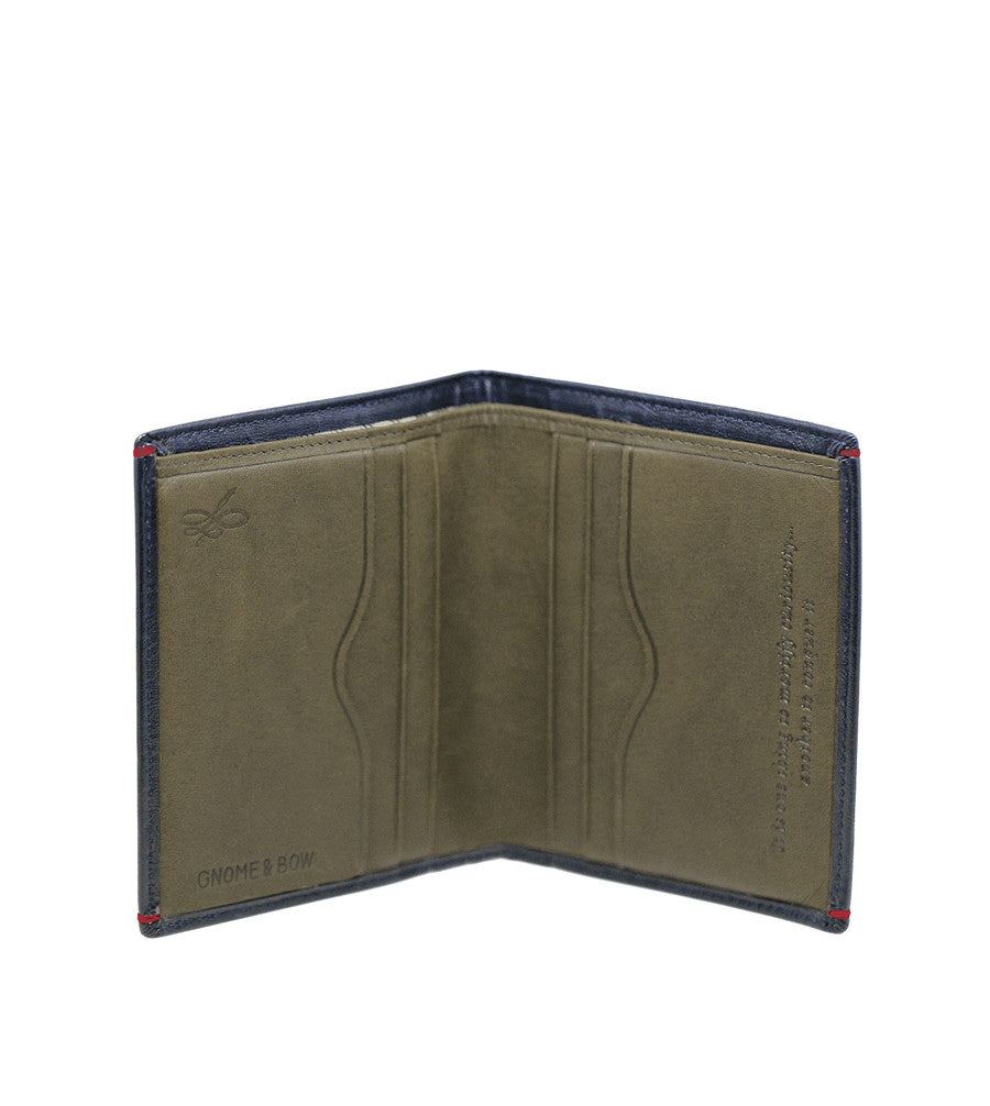 Brighton Card Wallet Deep Sea Blue