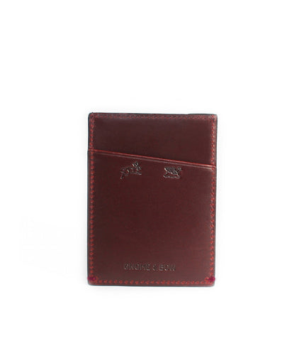 Gnome & Bow Fir Card Sleeve Oxblood - Men's Online Shopping in Singapore | The Assembly Store - 1