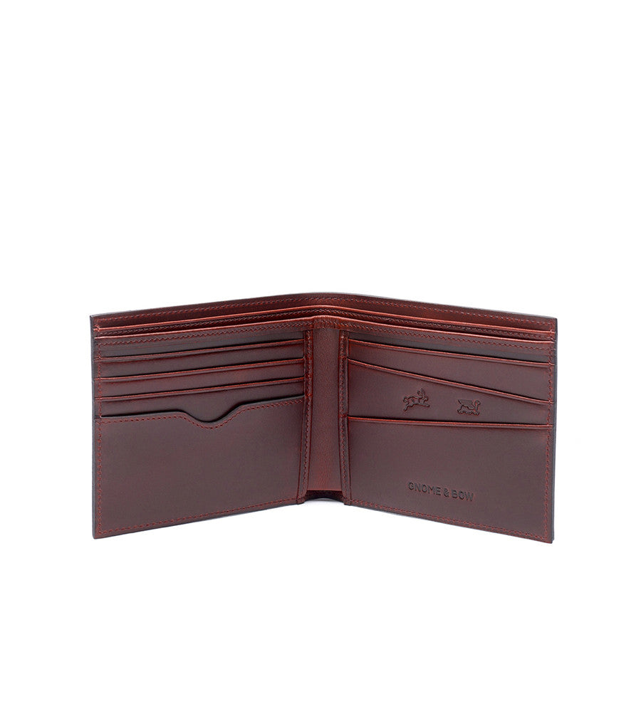 Linden Billfold Oxblood