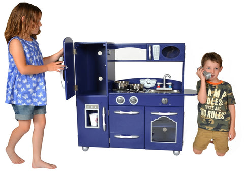 Teamson Kids Classic Play Kitchen Navy 1 Piece – Our