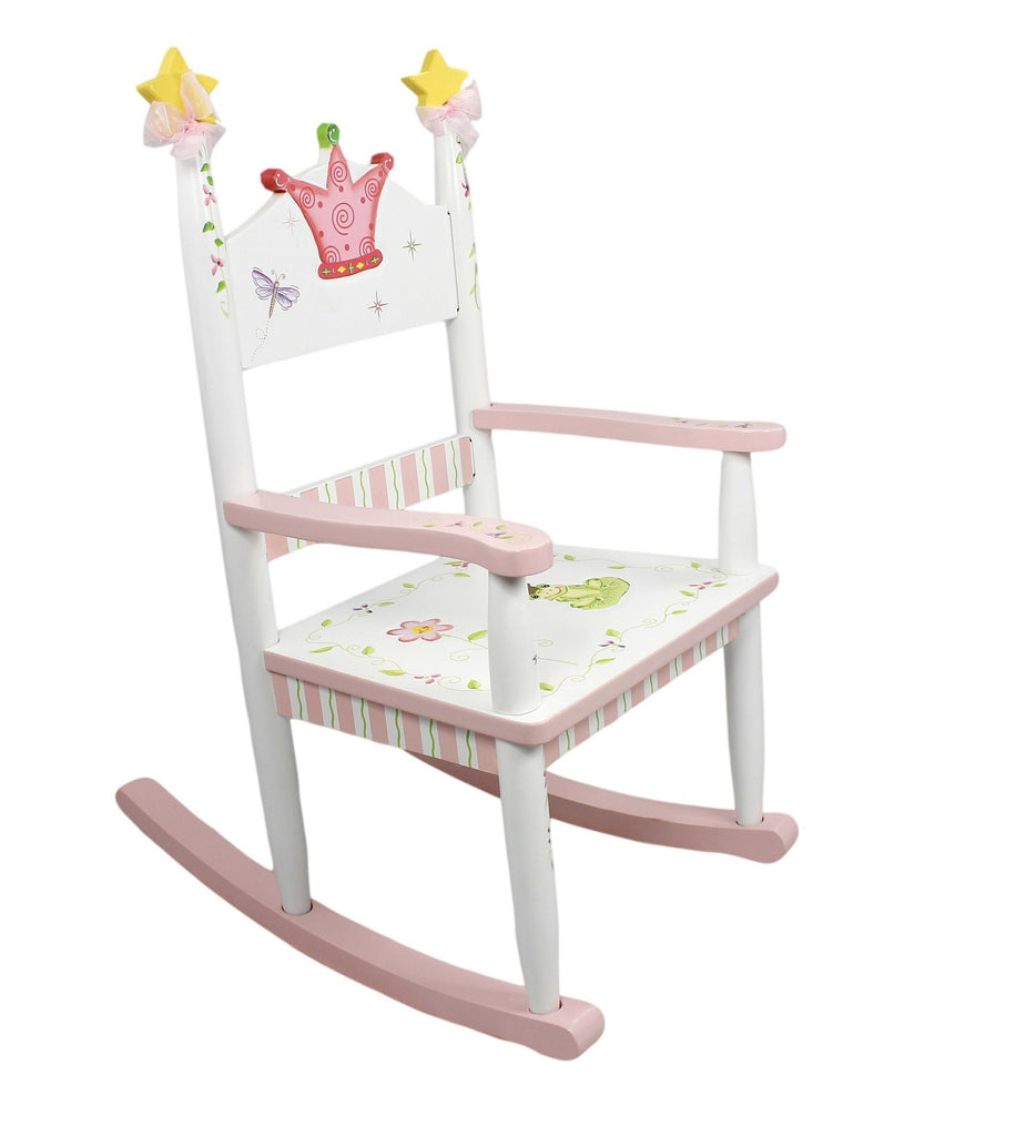 Wooden princess chair - Fantasy Fields By Teamson Princess Frog Rocking Chair