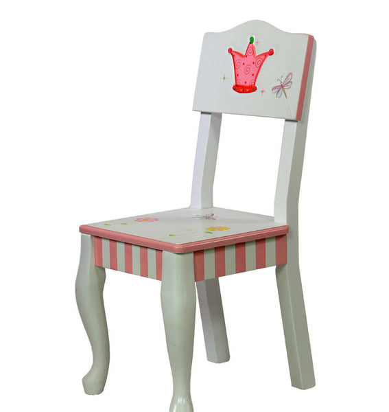 Princess and frog childrens 2 wooden chairs kids seat bedroom furnitur