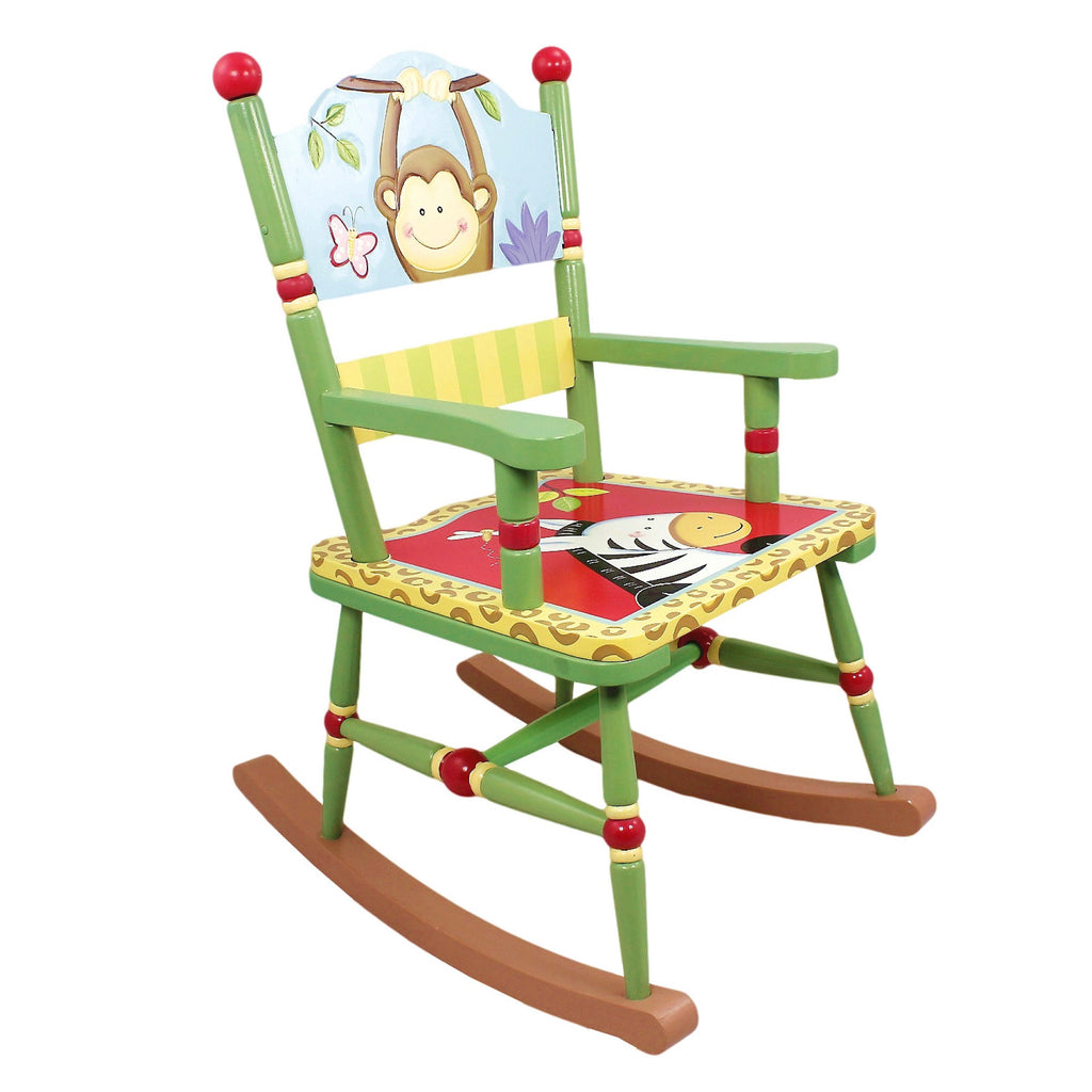 Fantasy Fields Childrens Red Wooden Rocking Chair Bedroom