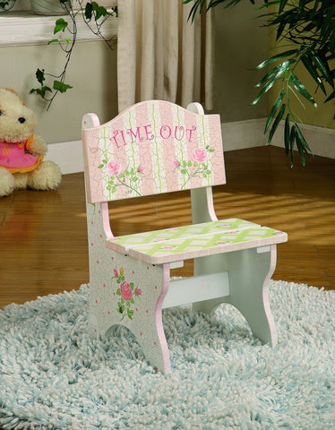 Fantasy Fields Childrens Pink Wooden Time Out Chair W