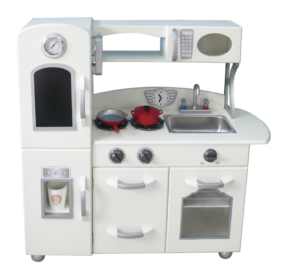 Teamson Kids Classic Play Kitchen White ( Piece) – Our Time Toys
