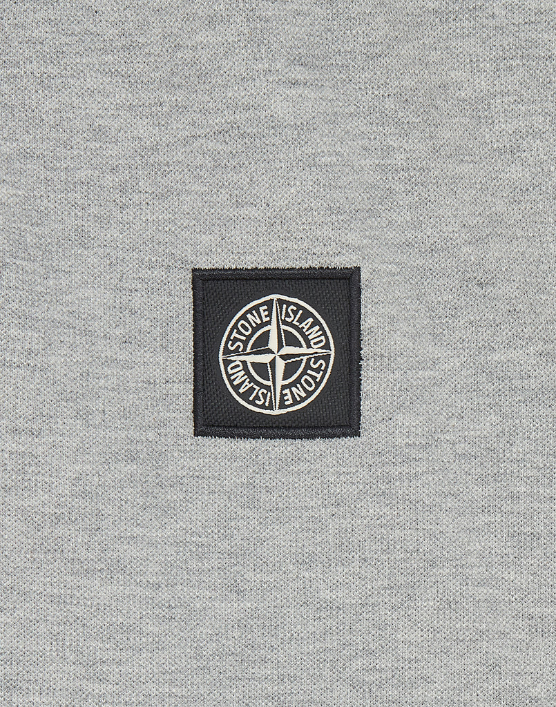 22S18 Stretch Cotton Pique Polo Shirt in Dust