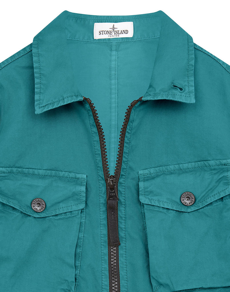 10410 STRETCH COTTON Overshirt in Turquoise