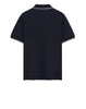 22S18 Stretch Cotton Pique Polo Shirt in Navy Blue