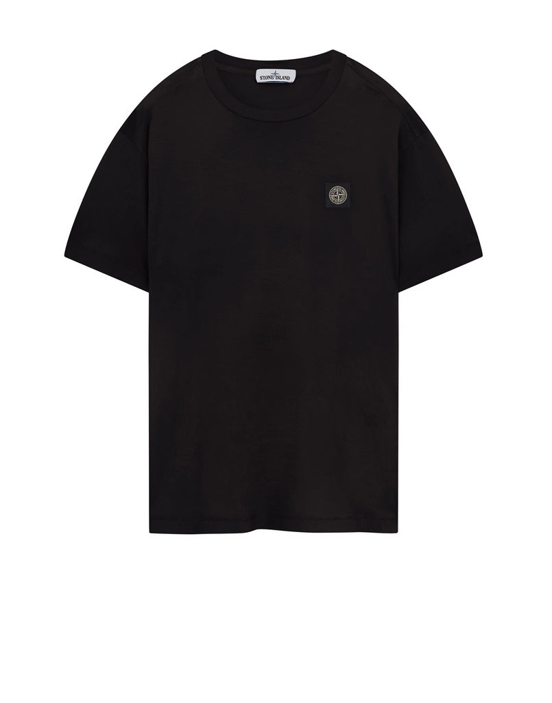24113 Garment Dyed Cotton Jersey T-Shirt in Black