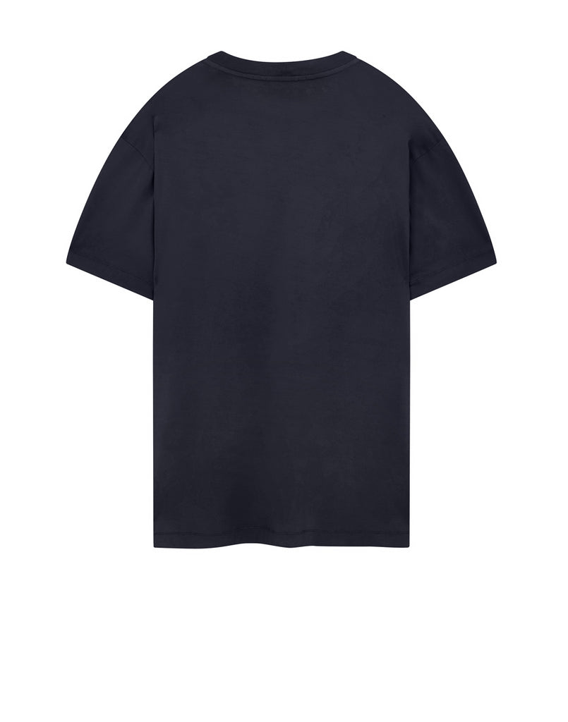 24113 Garment Dyed Cotton Jersey T-Shirt in Navy