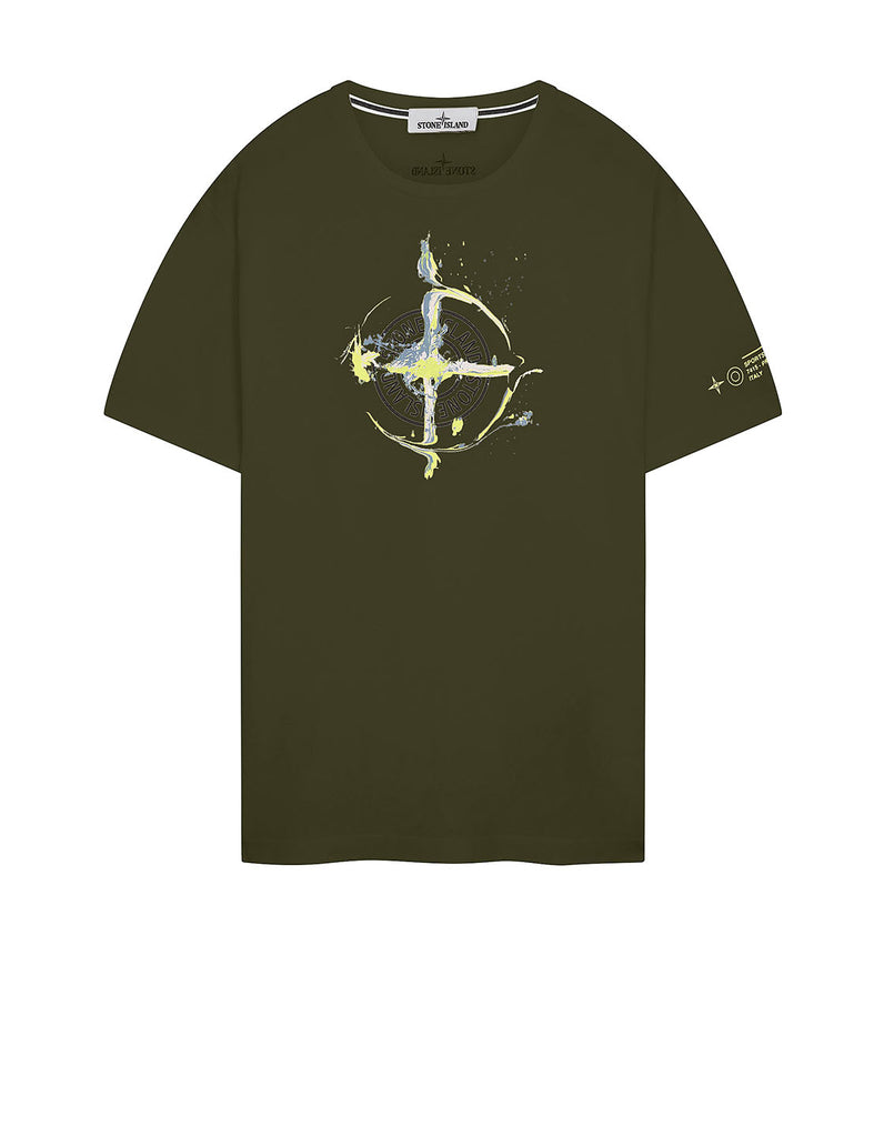 2NS83 'MARBLE ONE' T-Shirt in Olive