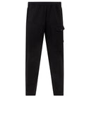 312X4 STONE ISLAND MARINA TWO-WAY STRETCH RECYCLED NYLON TWILL Pants in Black